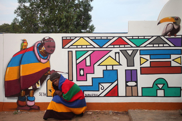 Street art in africa africanah org for African mural painting