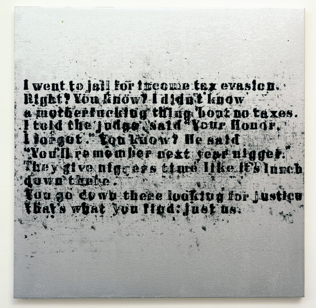 Danjuma Collection. 1. Glenn Ligon, Just Us #6, 2008.jpg