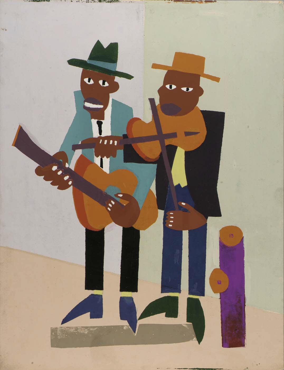 Resultado de imagem para Blind Singer - William Henry Johnson [1940]