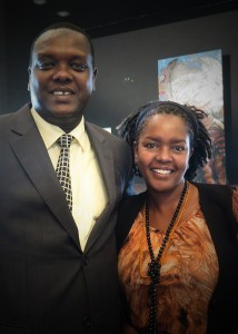 KCC Press conference - Cabinet Secretary Hassan Wario with Art Curator from NMK Lydia Galavu