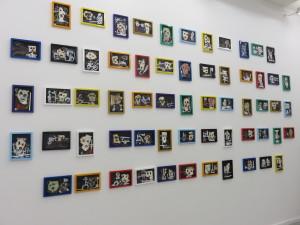 Thierry Oussou 'My Potato Field' Installation 61 slates 2015