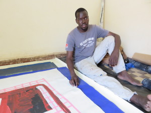 MaliAmadou Sanaogo talks about his work at Art Space 'Badialan 1' Bamako