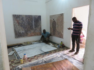 MaliArtist at work at Art Space 'Badialan 1' Bamako