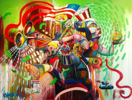 Most Famous Abstract Paintings Famous Abstract Art: Norm 'Nomzee' Maxwell, Street Art