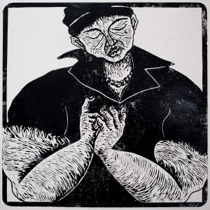 Thom Ogoga Woodcut print Untitled (2)