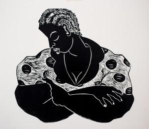 Thom Ogonga Wood Cut Print Untitled 3 (2)