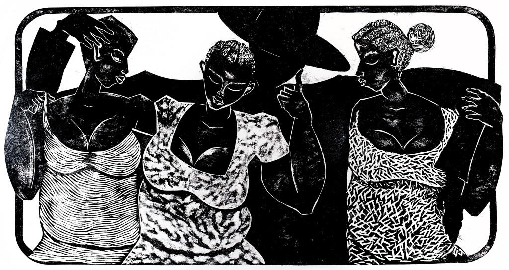 Thom Ogonga Woodcut Print Untitled 4 (2)