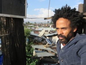 SolTewodros Bekele in his tree house overlooking Mercato (2)
