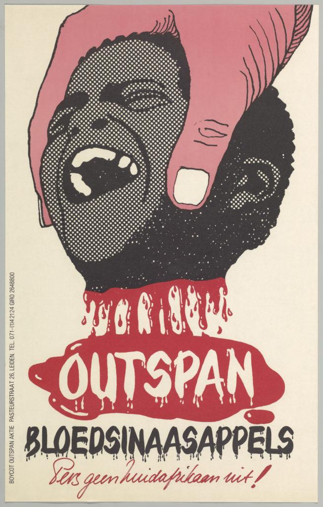 Rob van der Aa, Outspan, bloedsinaasappels, pers geen Zuidafrikaan uit!, 1975. Internationaal Instituut voor Sociale Geschiedenis, Amsterdam (2)