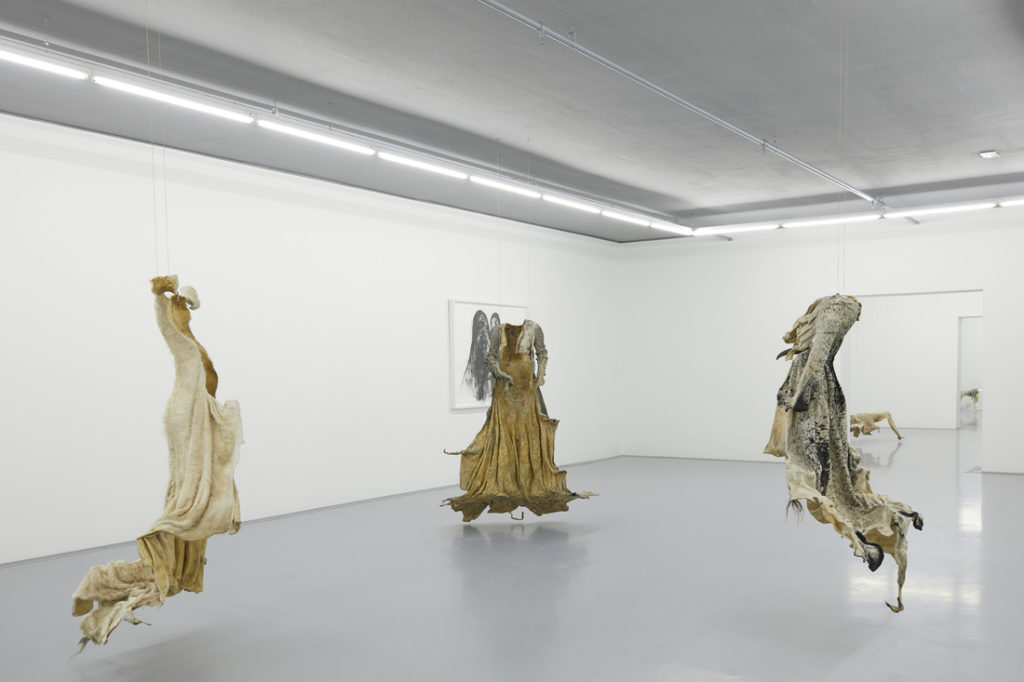 ZeitzInstallation view of a gallery with works by Nandipha Mntambo. Courtesy of Zeitz MOCAA.