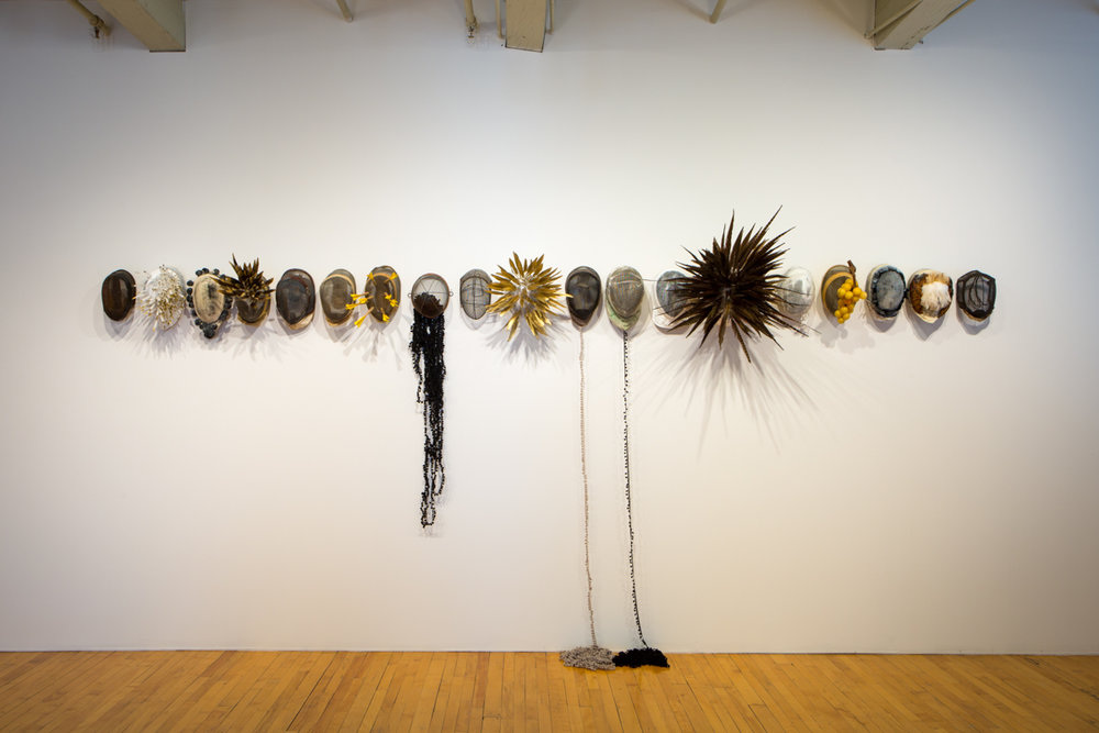 Installation view of Allison Janae Hamilton: Pitch