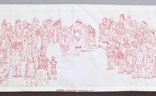 Senzeni_Marasela_TheodorahSenzeniandSarahI_detail_2010_embroidery