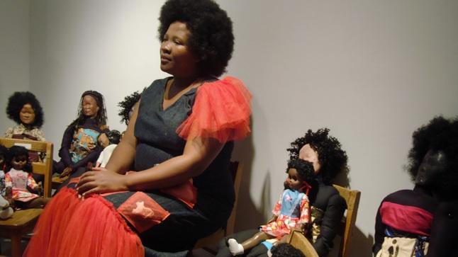 Senzeni_Marasela_performing_at_A.I.RGallery_2011