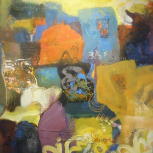 AfricanahHusseinPainting 1, Mixed-media, by Hussein Halfawi