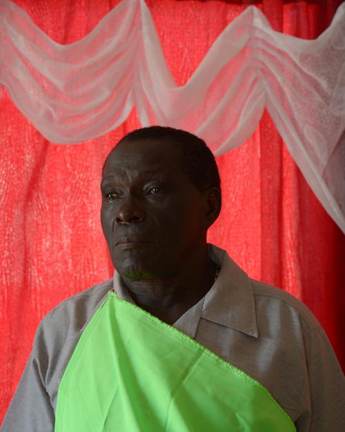 Basida Pierre, Apatou Captain, at home. Aluku Maroon community in Apatou, French Guiana.