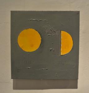 BBDImage 13, Kiib ena Gimash, (Circle and Half), oil on canvas, 40x40 cm.  2014