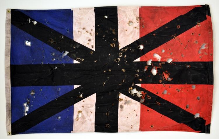 FrohawkTwoFeathersFrohawk Two Feathers, Frenglish Flag 2013
