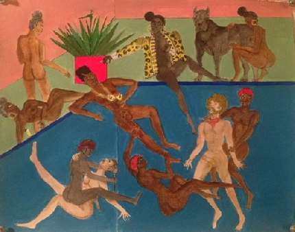 Two_Feathers_Frohawk-2016-Guanche_girls_at_the_villa_of_Lord_Hockney_on_Tenerife_-395