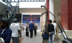 MaliVernissage Exhibition 'Promenade à Bamako' Dak'Art OFF 2016, Eiffage, Dakar (works of Abdoulaye Konaté & Sinaly Tangara)