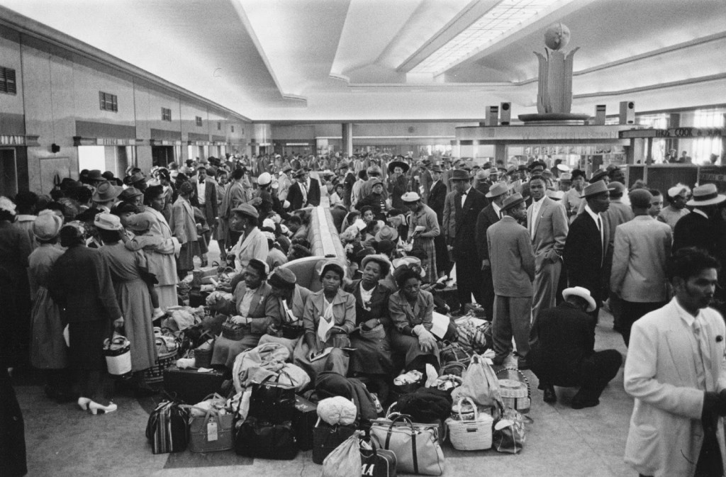 A crowd of 700 West Indian immigrants in the customs hall at Southampton.