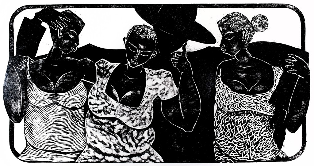 Thom Ogonga Woodcut Print Untitled 4 (2)