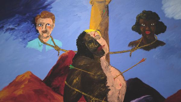 RobertColescott« Knowledge of the Past is the Key to the Future (St. Sebastian) » (detail), 1986.