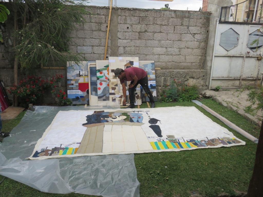 SolKirubel showing a giant art work (2)