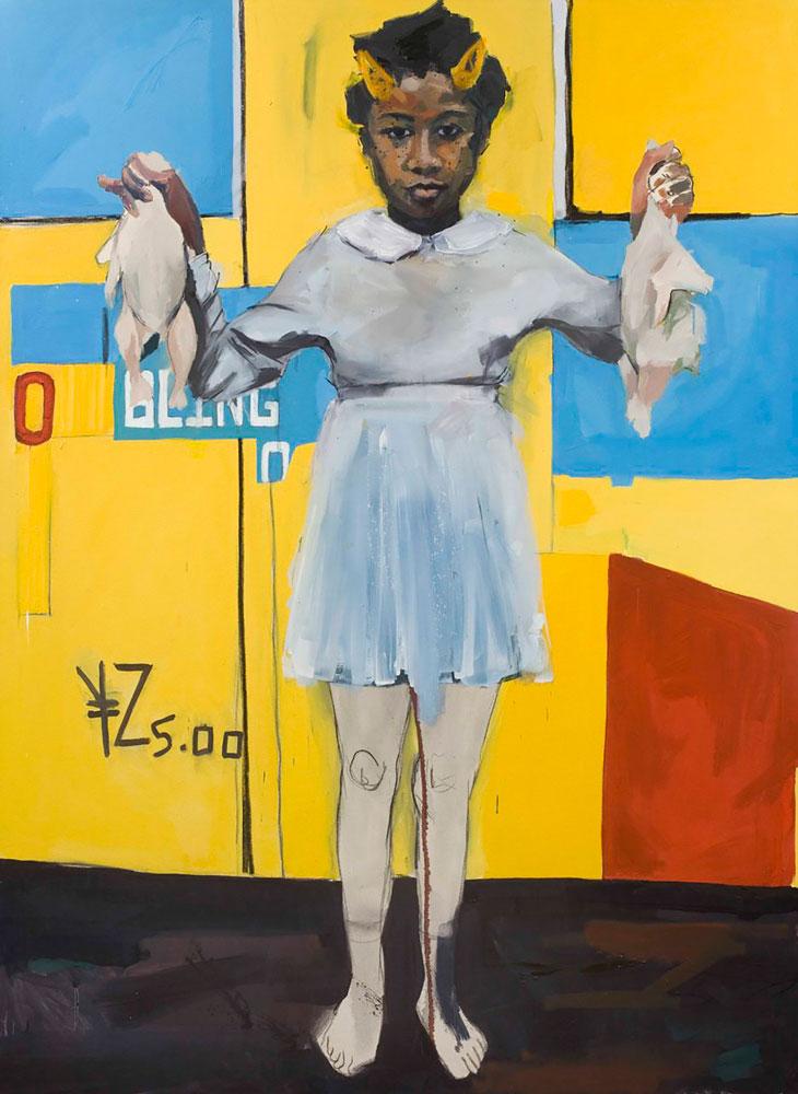 Kudzanai-Violet Hwami, Eve on an apple bottom, 2016