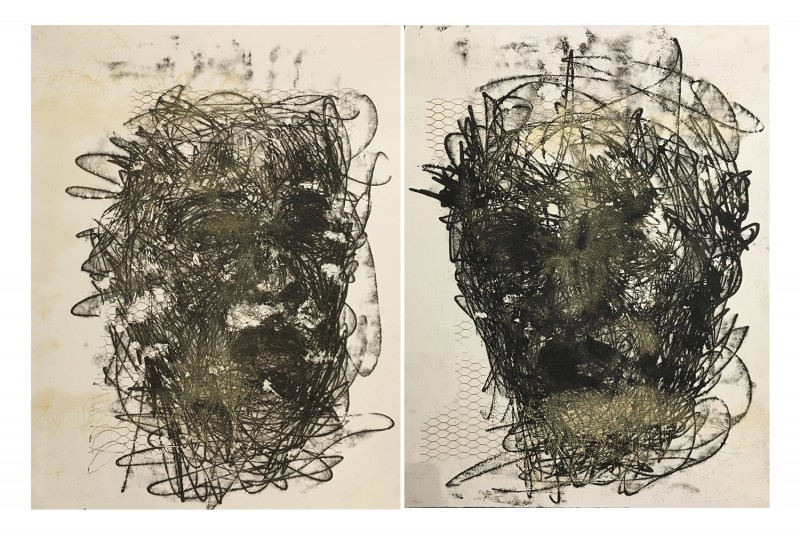 AdmireDust II and I Diptych 2017