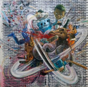 Machado, Miguel_Beyond toys stories 3_2017_200cmx200cm_Acrylic and Oil on canvas