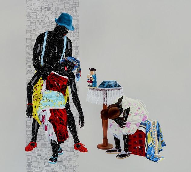 Fragile 3 small size 200cm x 200cm, Acrylic and oil on canvas, 2018