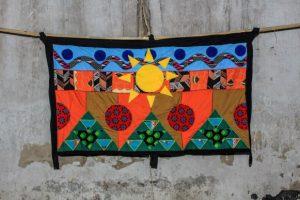 KampalaMatt Kayem's tapestry from Abdoulaye Konate's studio.