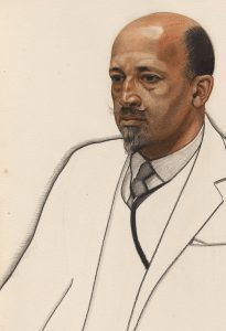 W.E.B. Du Bois; detail of a drawing by Winold Reiss, circa 1925