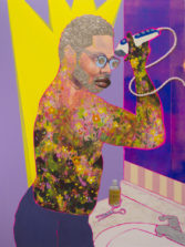 "Devan Shimoyama, ""Michael"" (2018) (image courtesy Richard Gerrig, Timothy Peterson, and the artist)"