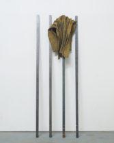 Tahir_Rwenzoris_2018_Raffia, Cobalt, Graphite, Lithium and Steel_122 cm x 38,2 cm x 15,2 cm