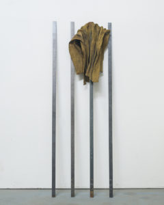Tahir_Rwenzoris_2018_Raffia, Cobalt, Graphite, Lithium and Steel_122 cm x 38,2 cm x 15,2 cm