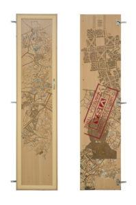 AlexandreAccess door ,39.5 cm X 170 cm, engraving, incision and acrylic on wooden door , 2017