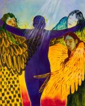 Naudline Pierre: paintings photographed at her Crown Heights studio.