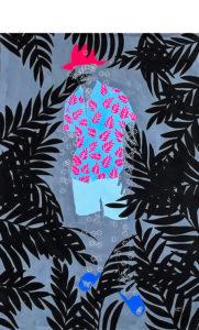 Moustapha-Baïdi-Marou---Fleurs-dans-l-Âme---2020---180cm-H-x-120cm-W---Acrylic-and-pen-on-canvas-sharpen-sharpen-denoise
