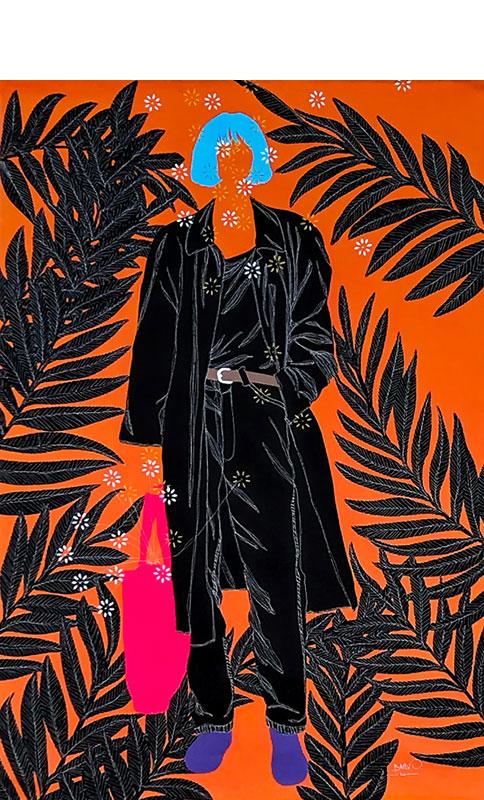 Moustapha-Baïdi-Oumarou---Sobre-style---2020----150cm-H-x-100cm-W----Acrylic-and-pen-on-canvas-sharpen-sharpen-denoise