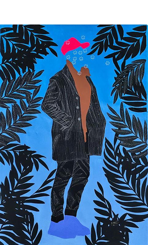 Moustapha-Baidi-Oumarou---Solitaire---2020---180cm-H--120cm-W---Acrylic-and-pen-on-canvas2-sharpen-sharpen-denoise