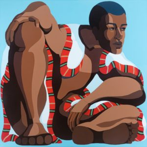 NiritBig_man,_acrylic_on_canvas,_100x100_cm,_2020._Nirit_Takele. - Nirit Takele