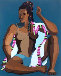 NiritFigure in shape, acrylic on canvas, 100x80 cm,2020, Nirit Takele - Nirit Takele