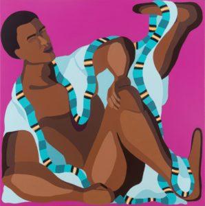 NiritStretching leg, acrylic on canvas, 50x50 cm, 2020 Nirit Takele - Nirit Takele