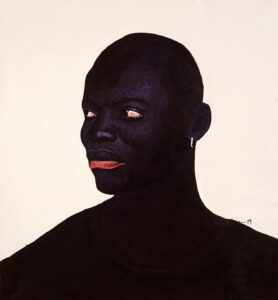 Kwesi Botchway, Bald Head King, 2020. Acrylic on canvas. 31 x 31 in.Courtesy of Gallery 1957