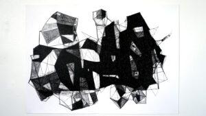 Waswa6Kizungirizi(KX 20.1), 2020, Charcoal on paper, 70 x 50 cm
