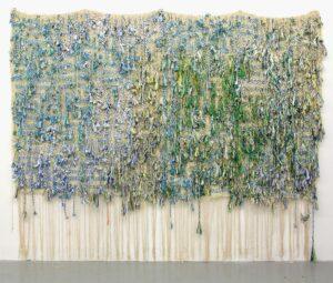 igSurah-al-Kafirun-III-part-one---two--2016--Woven-nylon-rope--beads-and-string--292-x-180cm-back--at-Frieze-NY